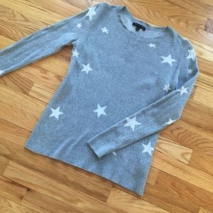 Banana Republic Gray Star Sweater, Small